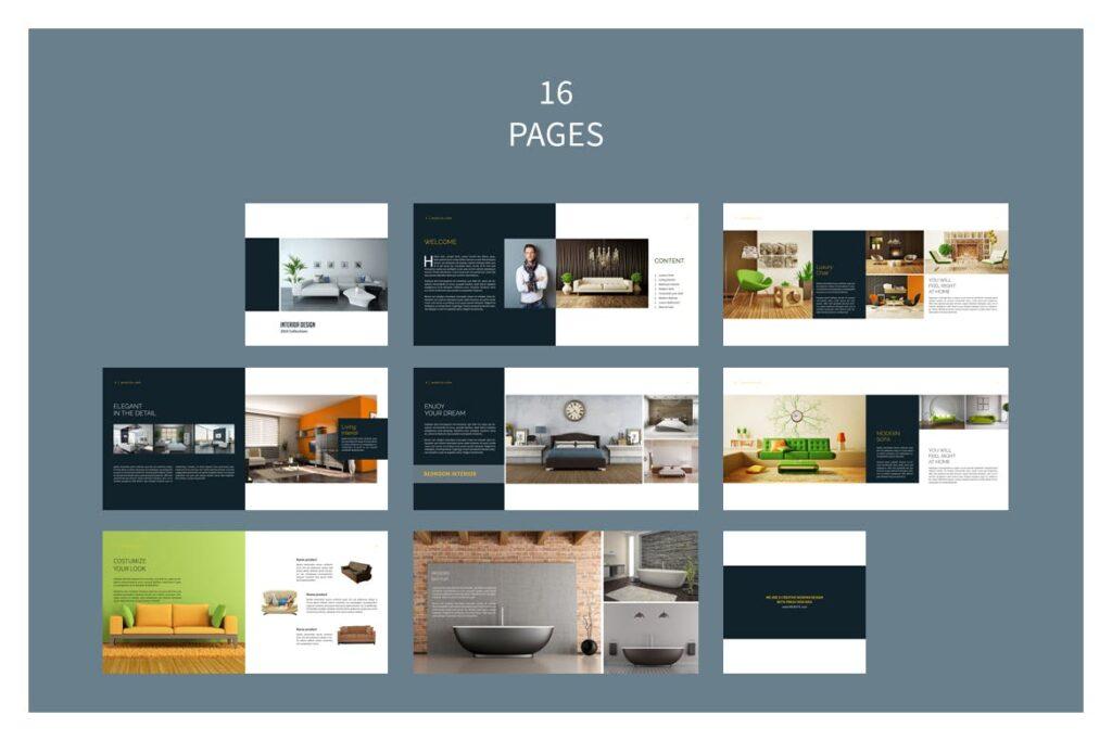 多用途目录/小册子/投资组合画册杂志模板Portfolio Brochure Catalogs插图(11)