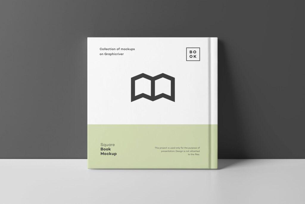 文艺优雅正方形书籍样机模板下载Square Book Mock up 2插图(11)