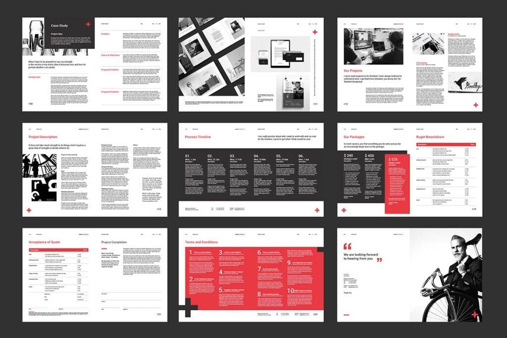 公司手册项目企划书画册模版素材Business Proposal插图(13)