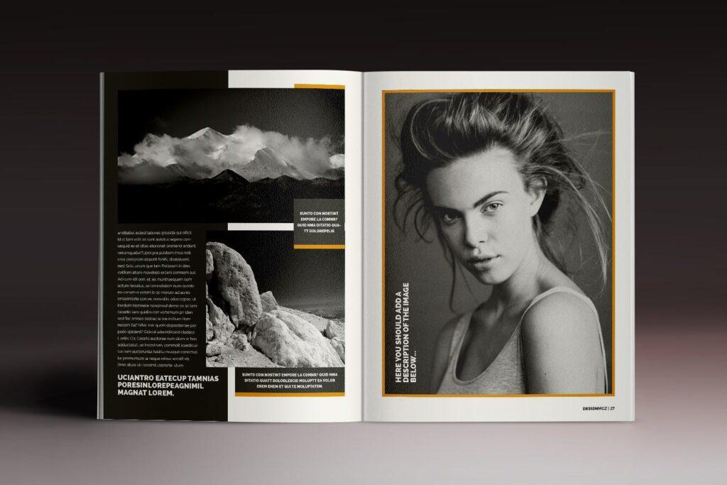 32页时代周刊画册杂志模板Des12n Magazine Indesign Template插图(11)