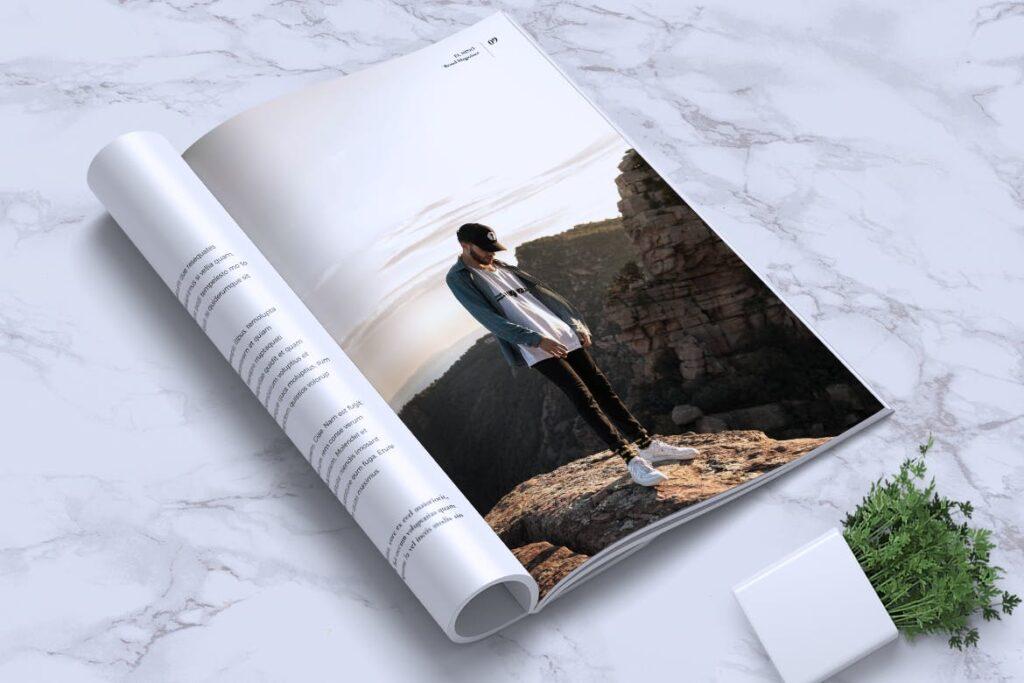 高端企业品牌宣传画册模板ELNINO Minimal Magazine插图(12)