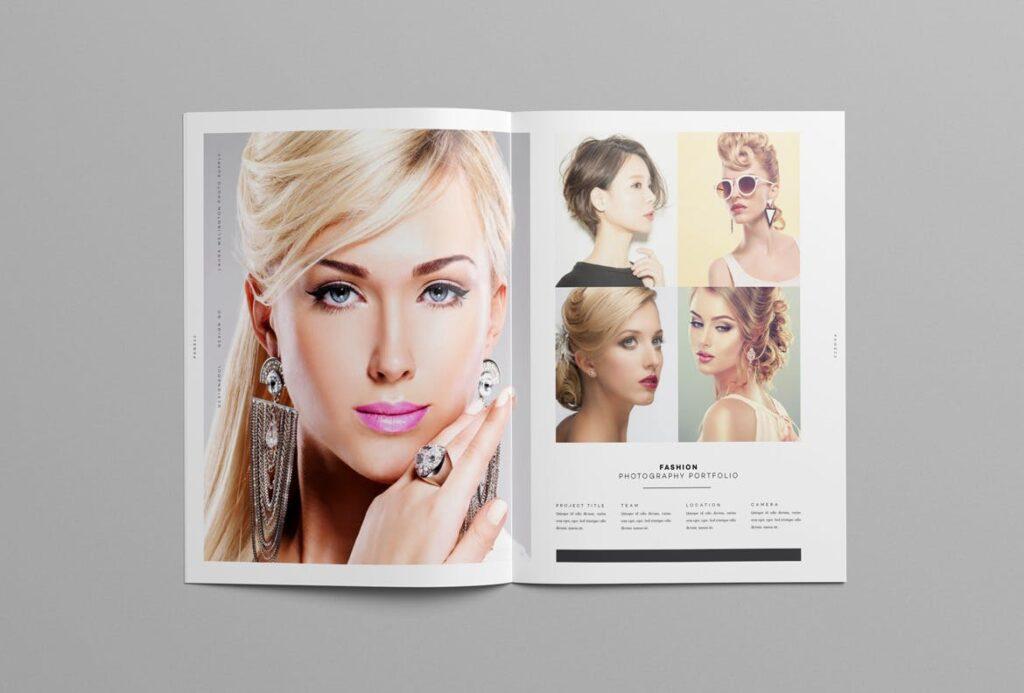 时尚摄影简洁板式画册杂志模板素材下载Fashion Photography Catalog Brochure插图(11)