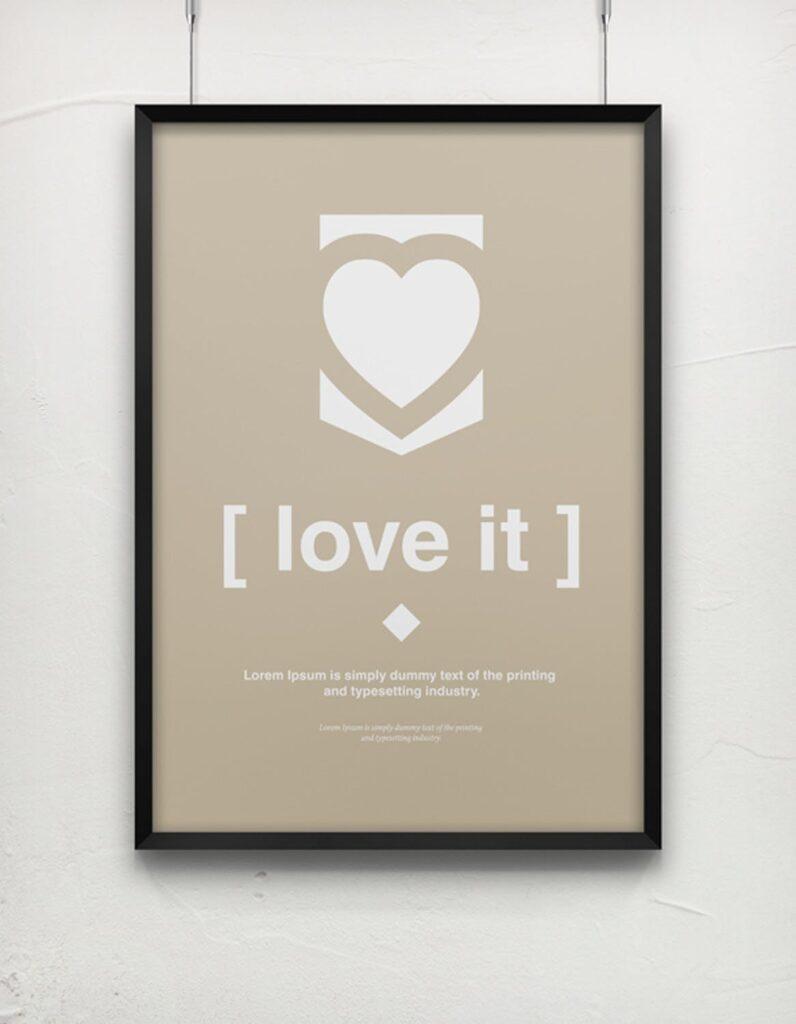 海报展示画框相框模型样机效果图Frame For Your Work 2插图(13)