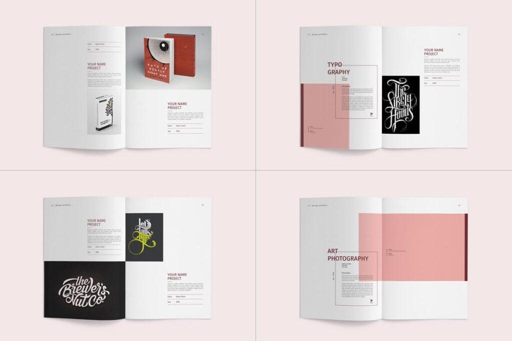 精致文艺室内设计画册模版素材Graphic Design Portfolio Template插图(13)