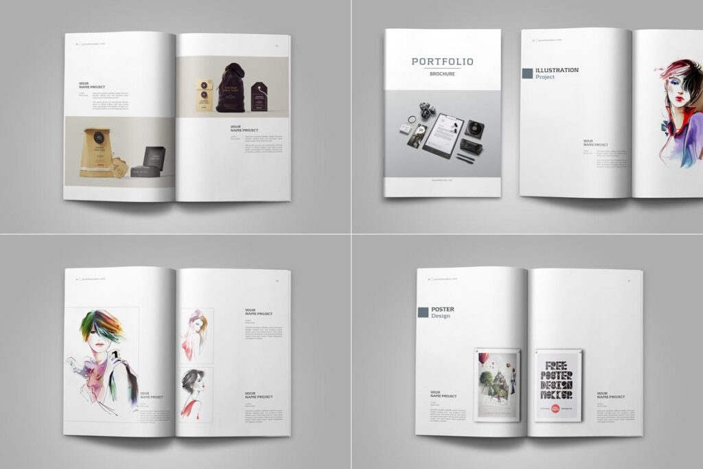 精致文艺平面设计作品集画册模板素材Graphic Design Portfolio Template插图(11)