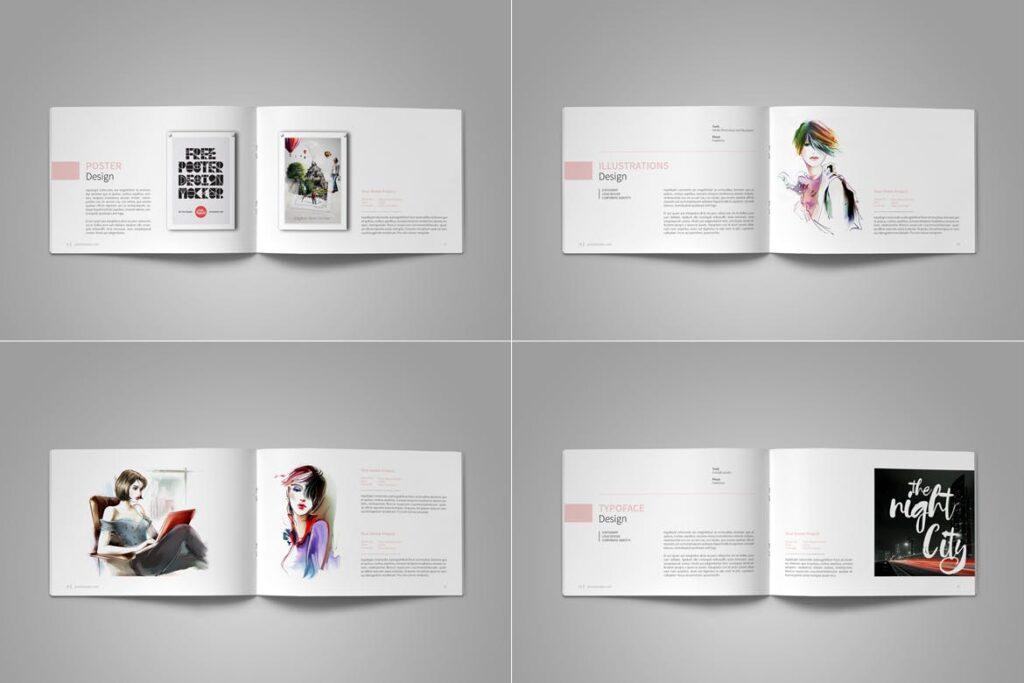 设计师工作产品/室内设计/家居设计展示画册模版Graphic Design Portfolio Template插图(13)