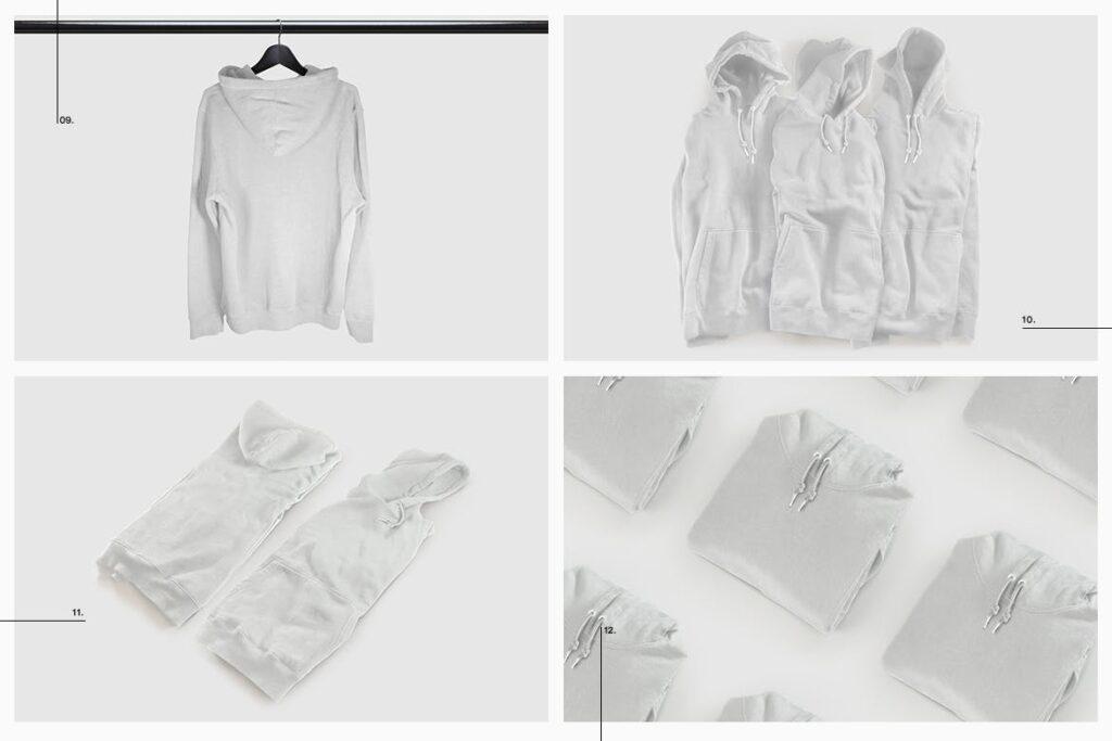 卫衣服装品牌展示样机模型效果图Hoodie Sweatshirt Presentation Mockup插图(12)