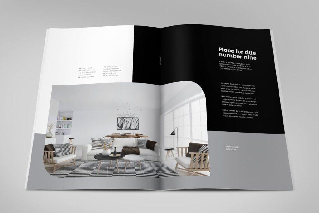极简室内设计/居家生活美学杂志画册模板Minimal Interior Design Magazine插图(13)