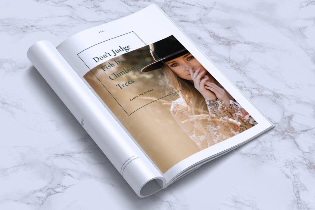 简约企业商务小册子目录/多用途画册模板PLUMERY Minimal Magazines插图(13)