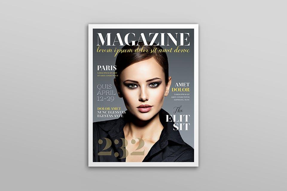 时尚服装杂志/封面/内页样机展示US Letter Magazine Mockup VN7KUN插图(11)