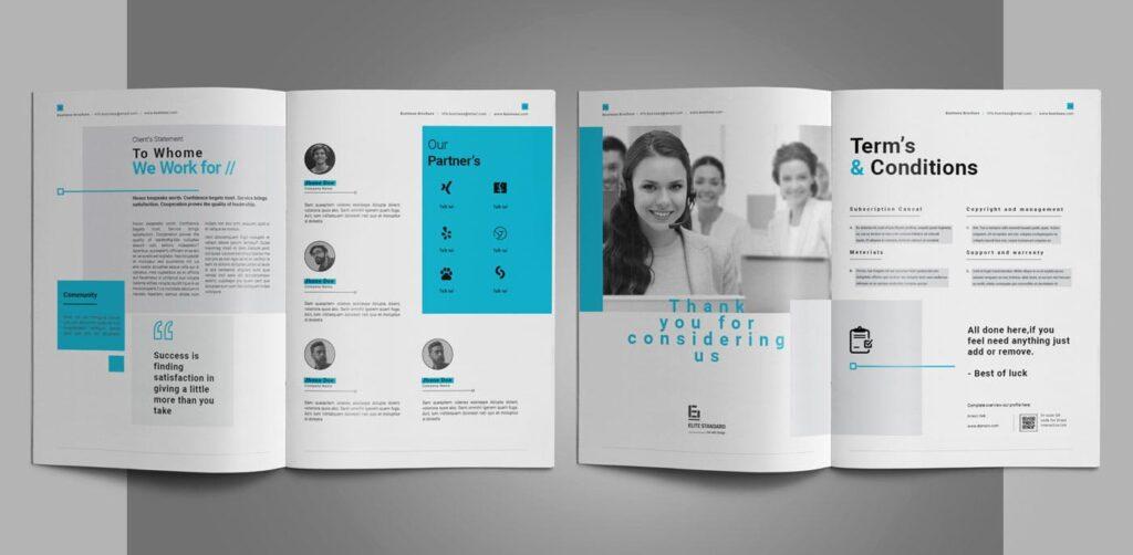 企业简介商务手册历史介绍杂志画册模板Business Profile插图(14)