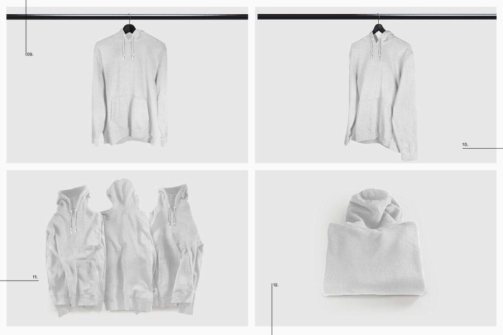 多色卫衣服装品牌样机模型素材样机pColor Hoodie Sweatshirt Mockup插图(14)