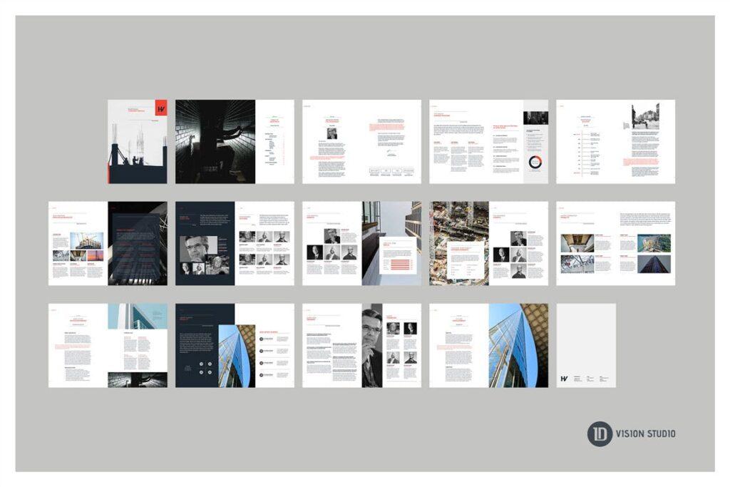 公司动态展示商业手册优雅简洁画册杂志模板Company Profile 001插图(13)