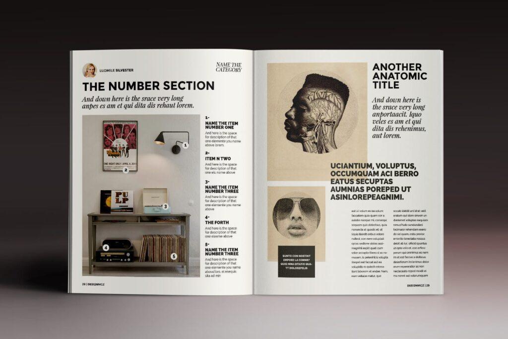 32页时代周刊画册杂志模板Des12n Magazine Indesign Template插图(12)