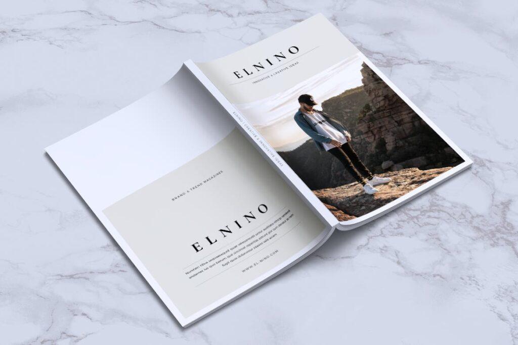 高端企业品牌宣传画册模板ELNINO Minimal Magazine插图(13)
