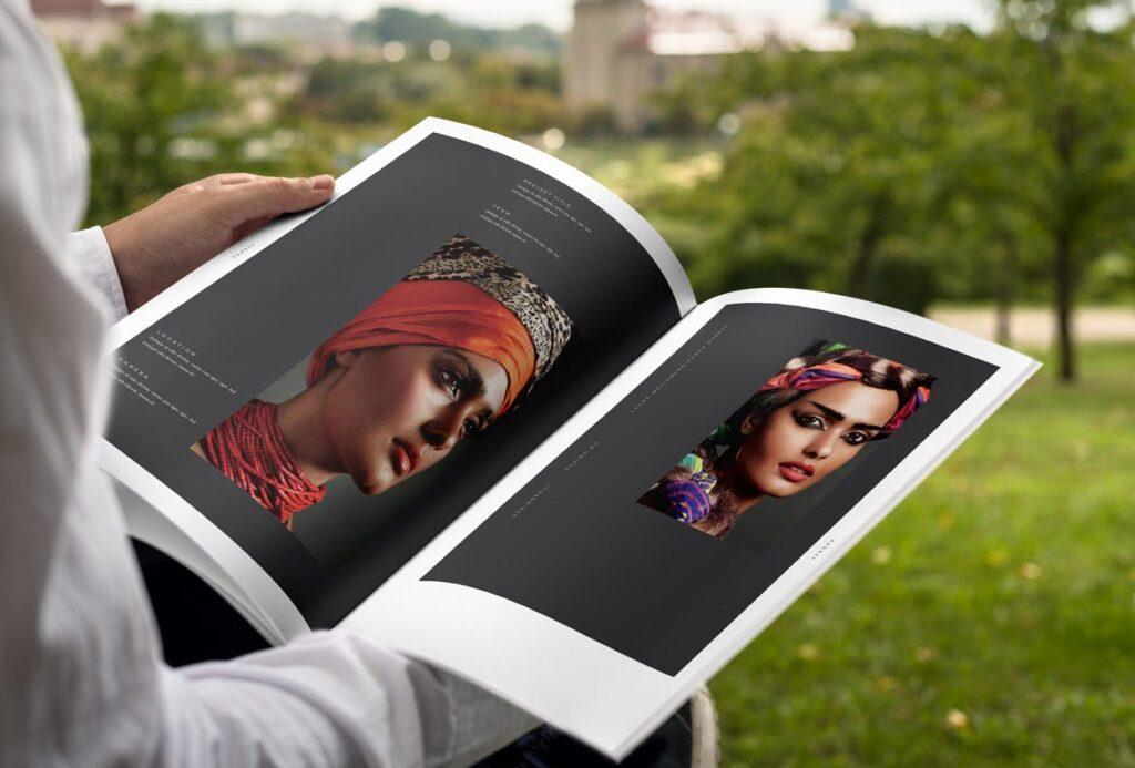 时尚摄影简洁板式画册杂志模板素材下载Fashion Photography Catalog Brochure插图(12)