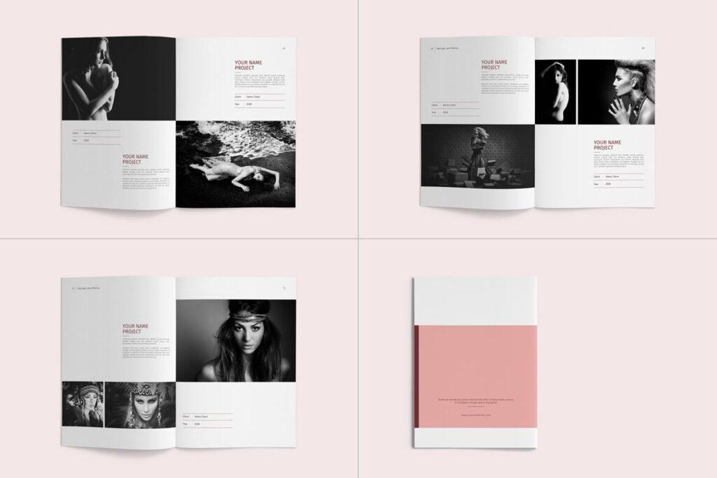 精致文艺室内设计画册模版素材Graphic Design Portfolio Template插图(14)