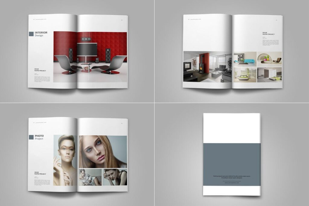 精致文艺平面设计作品集画册模板素材Graphic Design Portfolio Template插图(12)