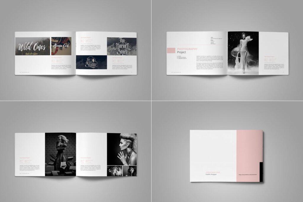 设计师工作产品/室内设计/家居设计展示画册模版Graphic Design Portfolio Template插图(14)
