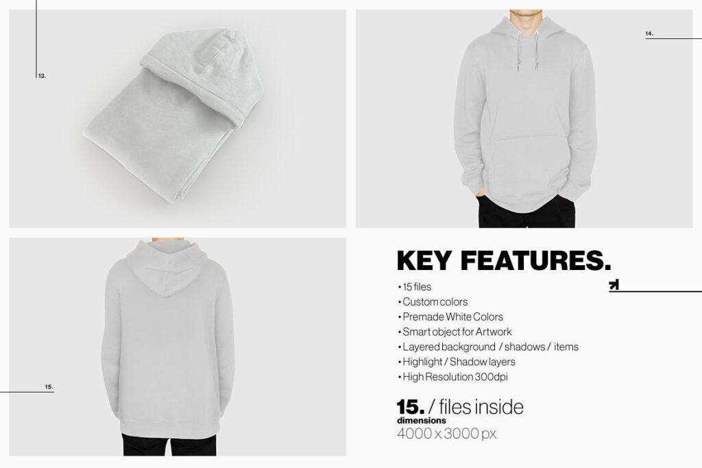 卫衣服装品牌展示样机模型效果图Hoodie Sweatshirt Presentation Mockup插图(13)