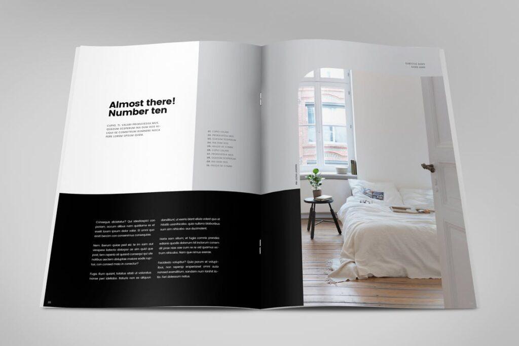 极简室内设计/居家生活美学杂志画册模板Minimal Interior Design Magazine插图(14)