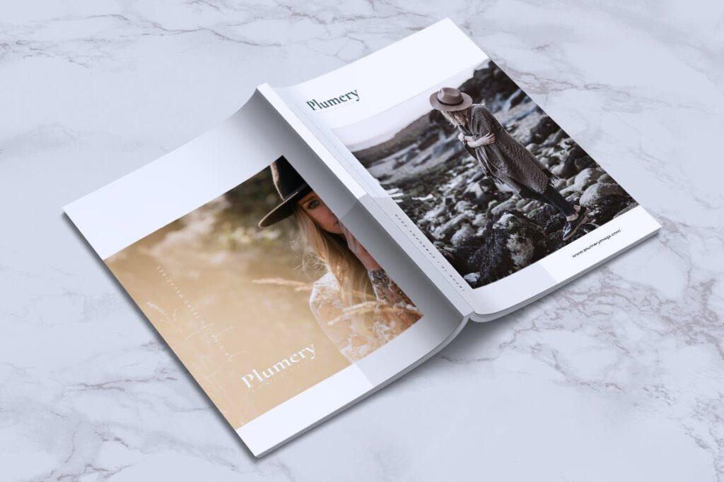 简约企业商务小册子目录/多用途画册模板PLUMERY Minimal Magazines插图(14)