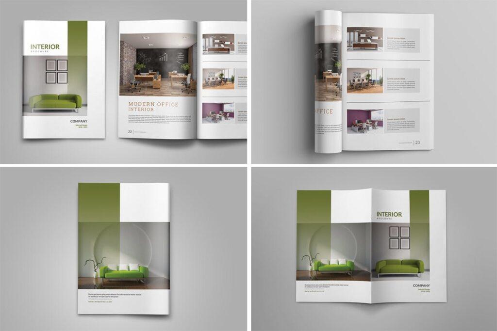 优雅简洁室内设计手册/目录/杂志画册模板PSD Interior Brochures Catalogs Magazine插图(14)