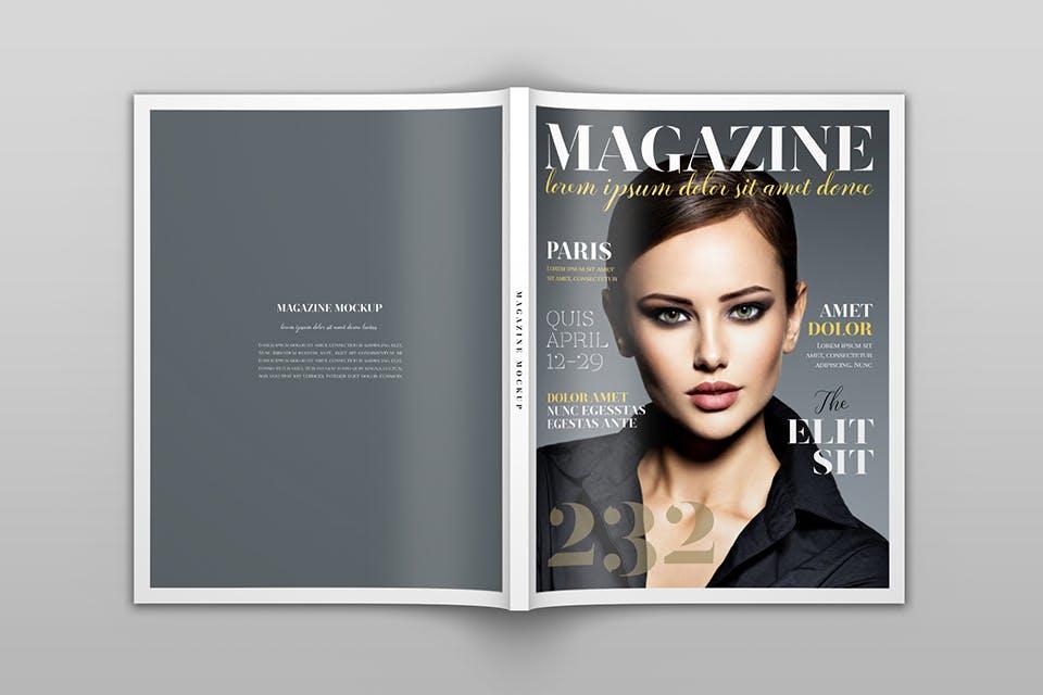 时尚服装杂志/封面/内页样机展示US Letter Magazine Mockup VN7KUN插图(12)