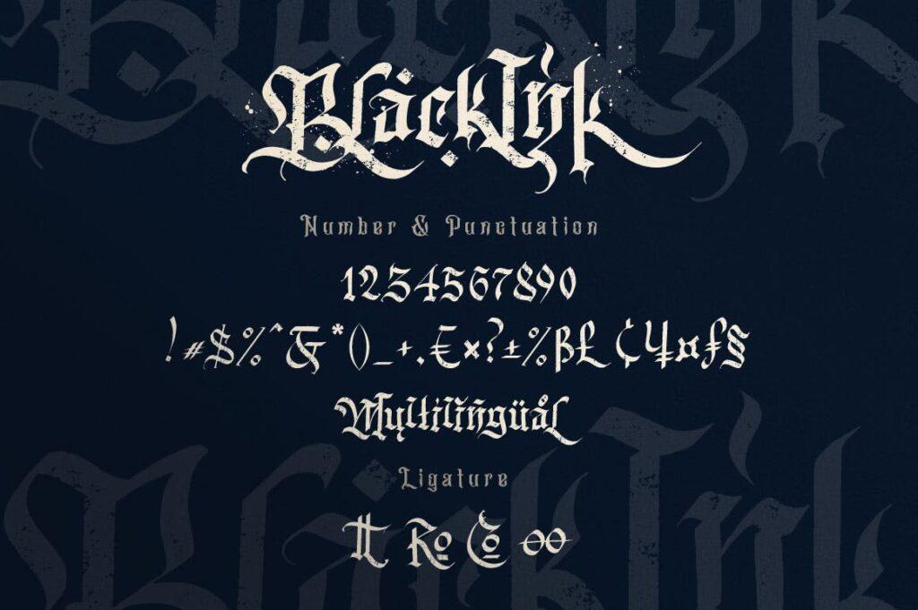万圣节主题海报宣传衬线英文字体下载Blackink Blackletter Font插图(15)