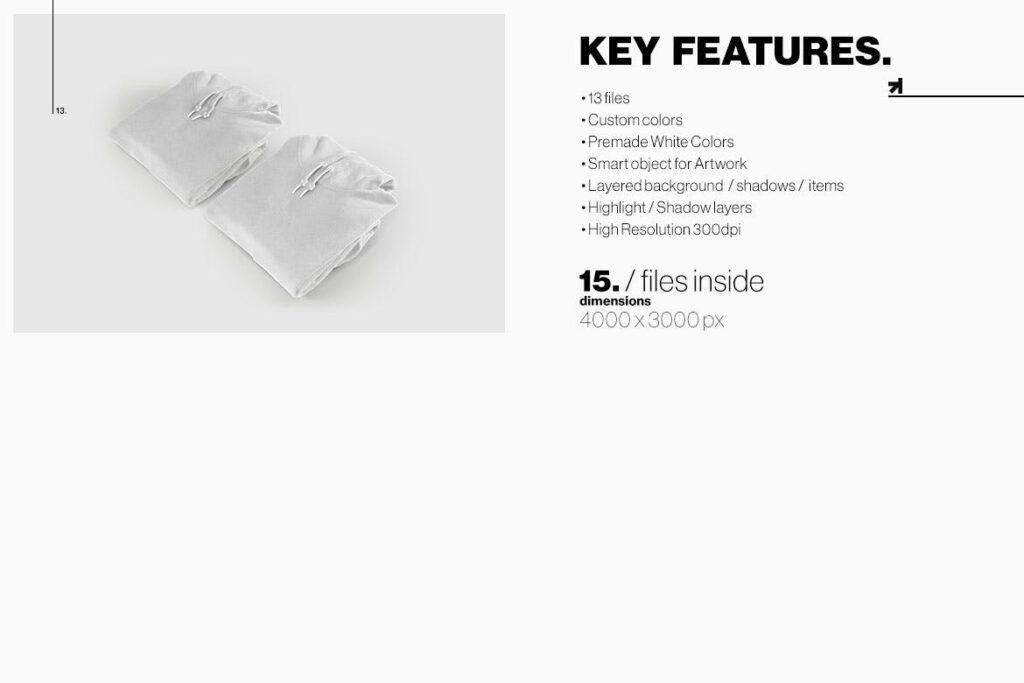 多色卫衣服装品牌样机模型素材样机pColor Hoodie Sweatshirt Mockup插图(15)