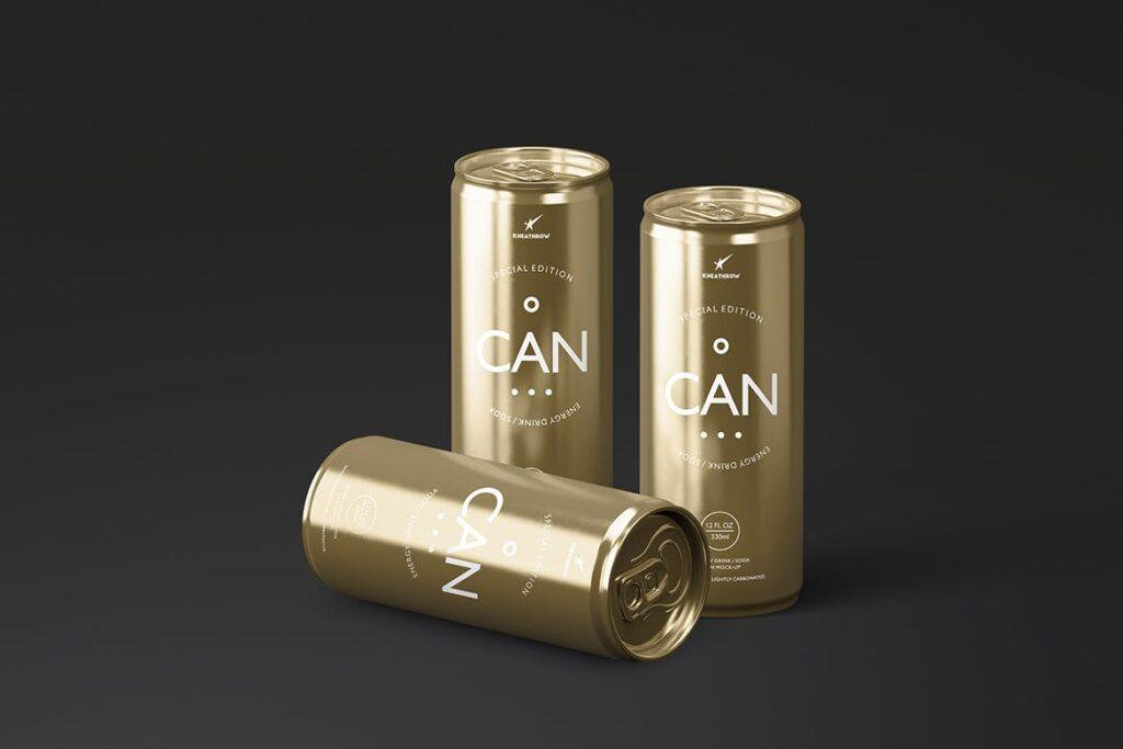简约能量/苏打饮料易拉罐包装模型样机Energy Soda Drink Can Packaging MockUps Vol1插图(13)