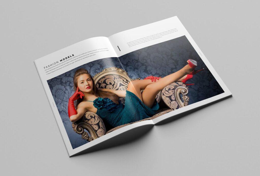 时尚摄影简洁板式画册杂志模板素材下载Fashion Photography Catalog Brochure插图(13)