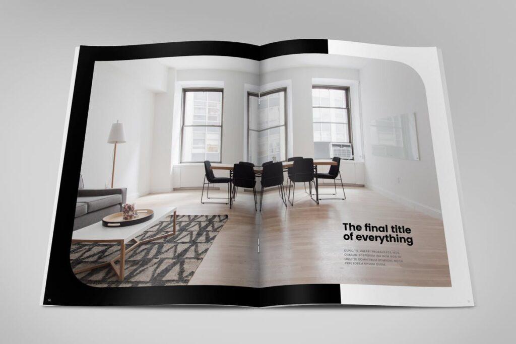 极简室内设计/居家生活美学杂志画册模板Minimal Interior Design Magazine插图(15)