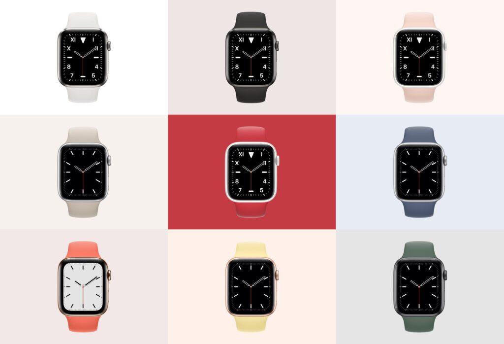 苹果手表系列5展示效果图样机模型下载Apple Watch Mockup Series 5插图(1)