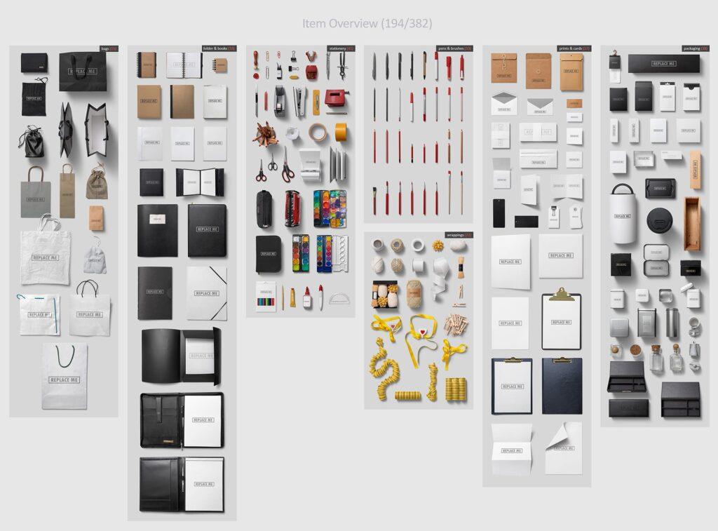 艺术品牌VI场景素材大合集Art Branding Scene Generator Part 1插图(1)