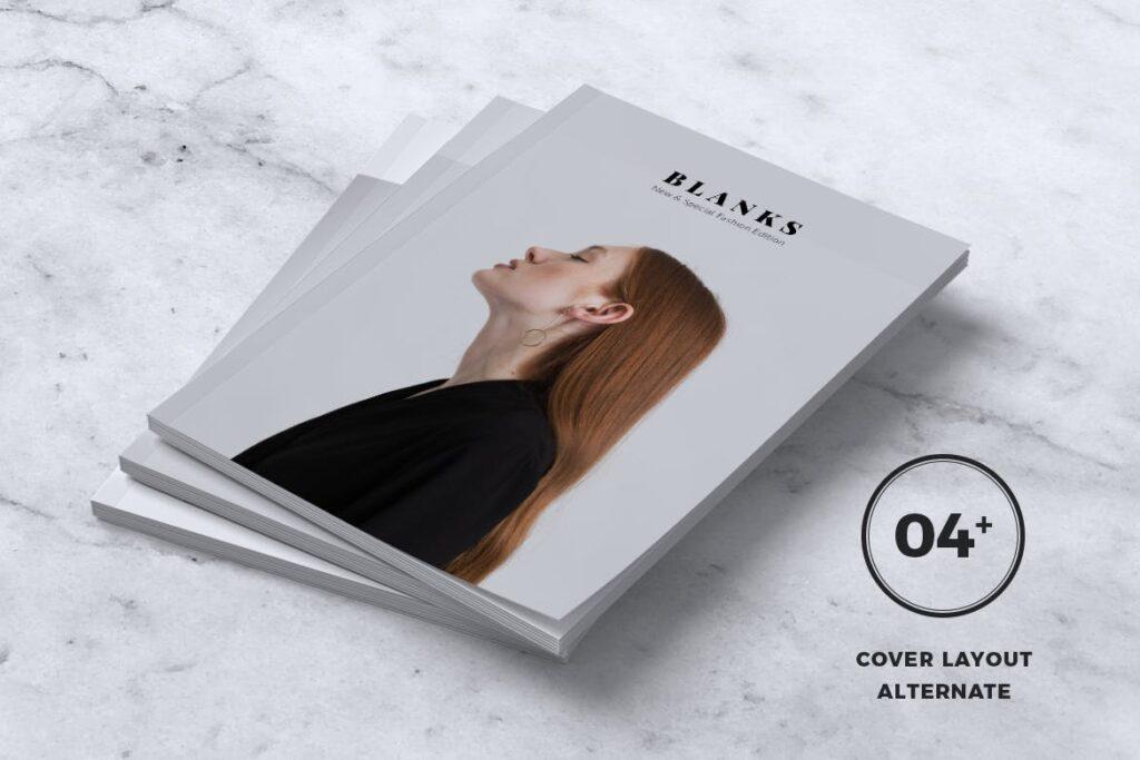 女性时尚服装品牌杂志模板BLANKS Minimal Fashion Magazine插图(1)