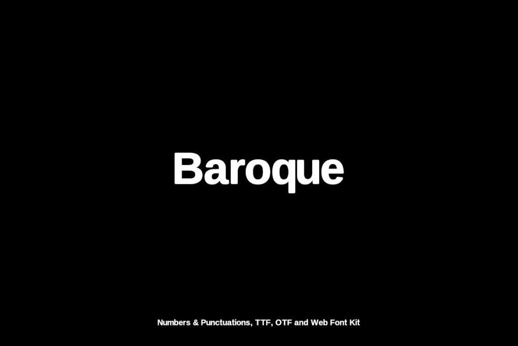 巴洛克风格的字体/品牌包装宣传字体下载Baroque sans Typeface Webfonts插图(1)