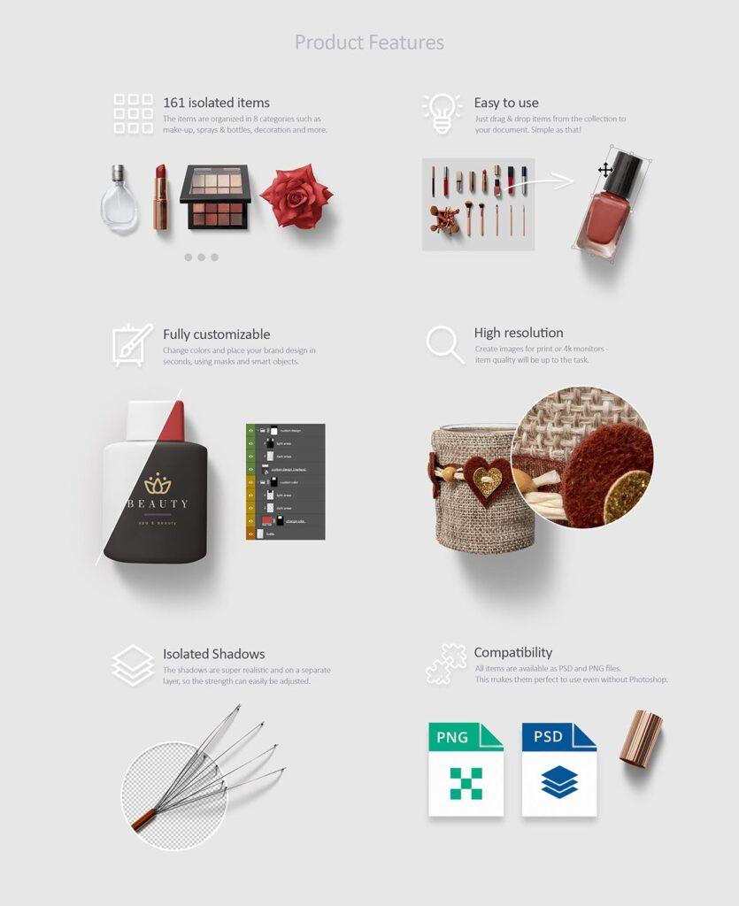 化妆品场景素材素材生成器Beauty Cosmetics Scene Generator插图(1)