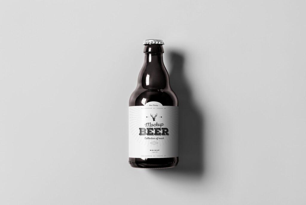 啤酒品牌包装/啤酒瓶包装模型样机模型下载Beer Mockup 2 DV9XAA插图(1)