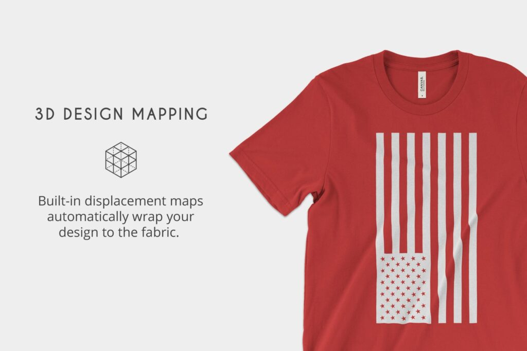 4K分辨率男士T恤展示效果样机素材Bella Canvas 3001 T Shirt Mockups插图(1)