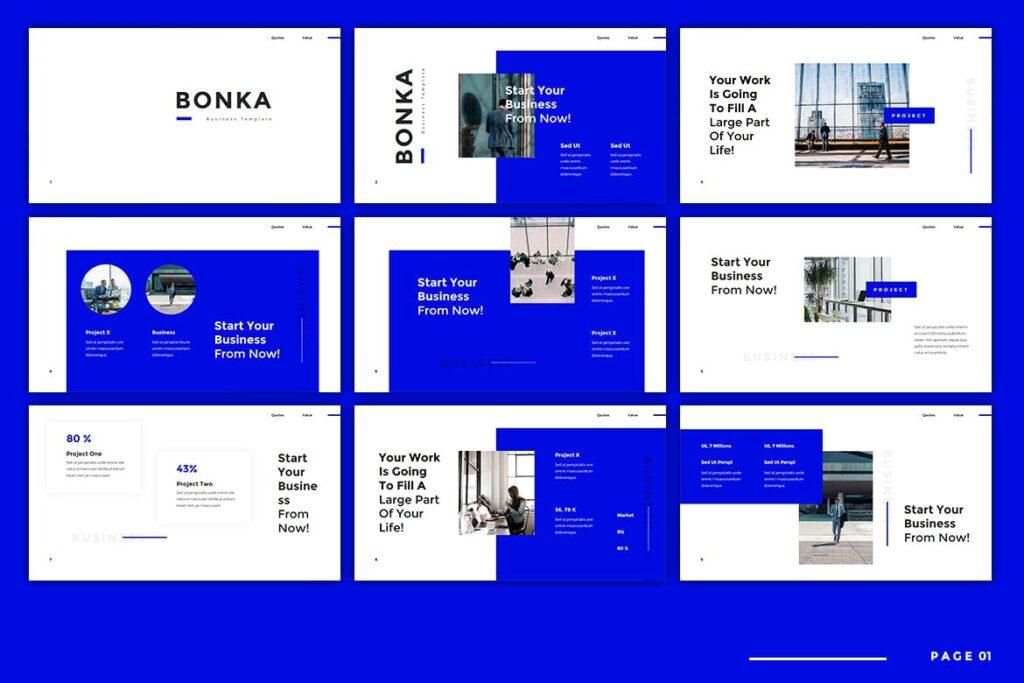 建筑设计类概念设计主题概念演讲PPT幻灯片模板Bonka Business Keynote插图(1)