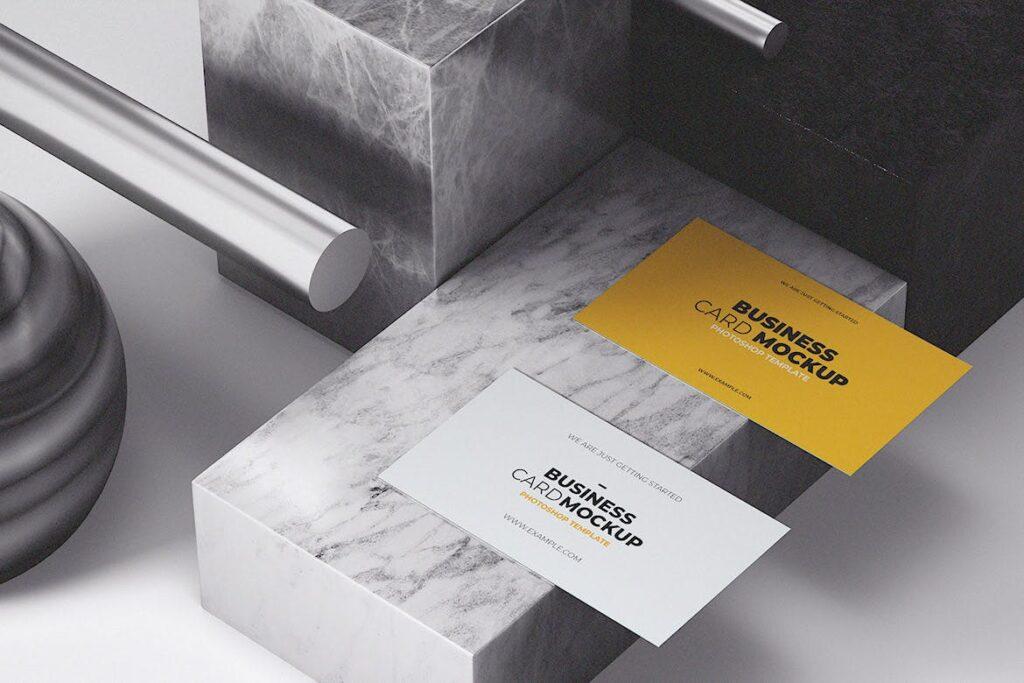 简约现代风格名片场景模型样机下载Business Card MockUp Template插图(1)