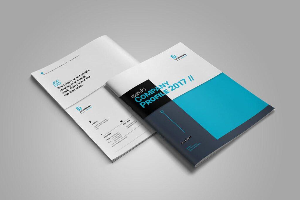 企业简介商务手册历史介绍杂志画册模板Business Profile插图(1)