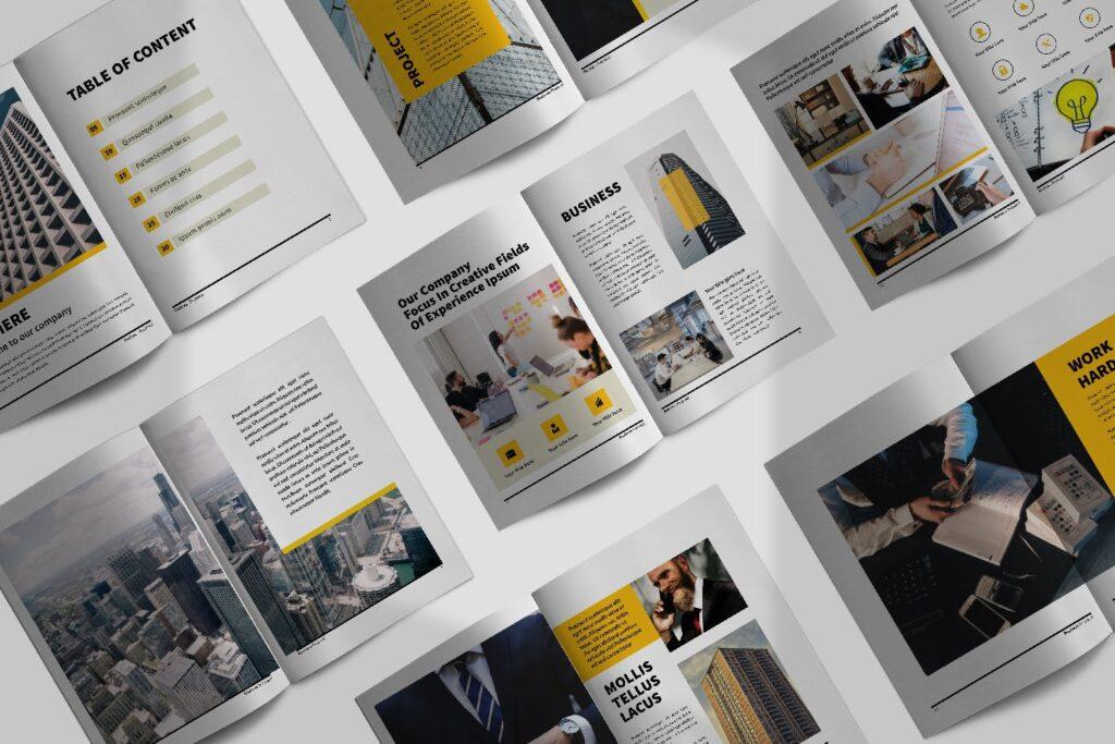 企业商务类画册模板素材画册模板Bussiness Proposal Brochure Company插图(1)