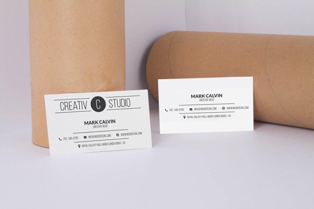 商务简约名片模型样机下载Clean Business Card Mock Up插图(1)