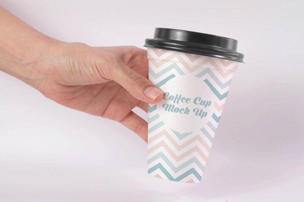 文艺咖热饮纸杯/咖啡杯模型样机素材Coffee Cup Mock Up HKEBC7插图(1)
