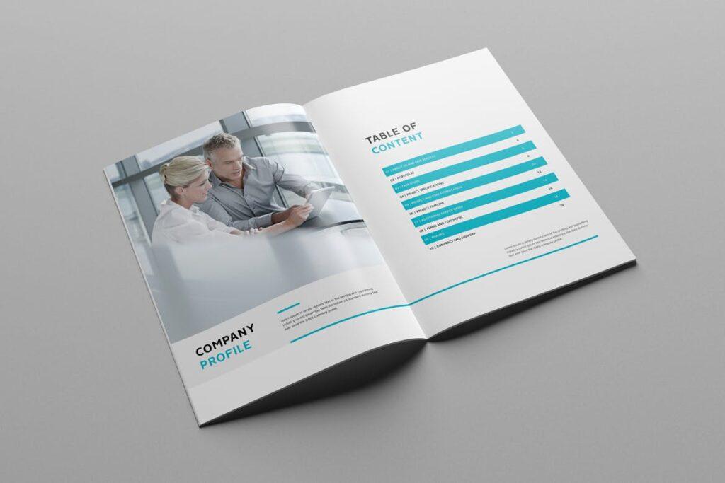 公司简介企业画册商务手册杂志模板素材Company Profile Z2NA6V插图(1)