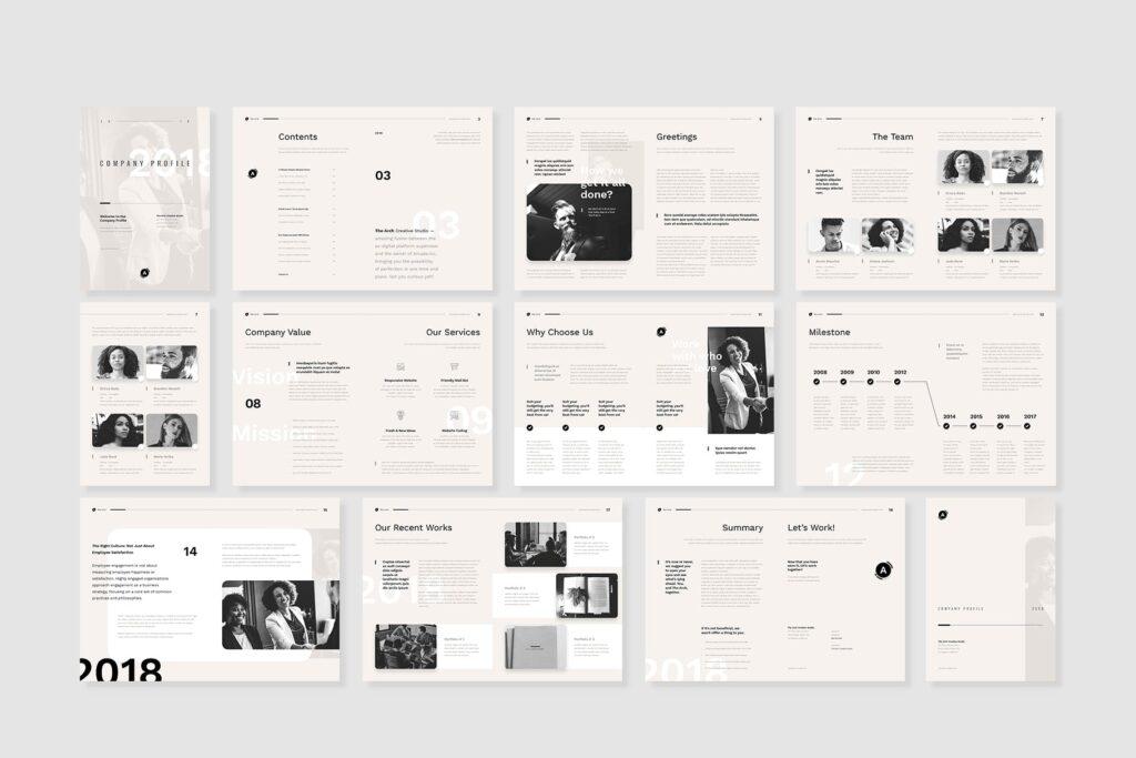 企业产品介绍画册模板素材Company Profile D9JHZJ插图(1)
