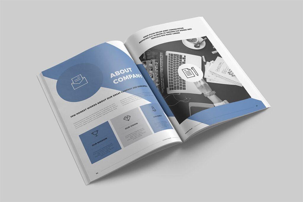公司简介画册杂志模板素材下载Company Profile YT7HTG插图(1)