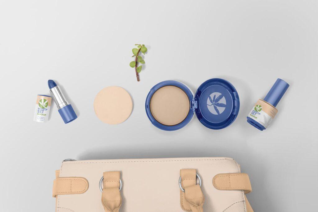 精致化妆品品牌模型样机效果图Cosmetic Branding Mockups插图(1)